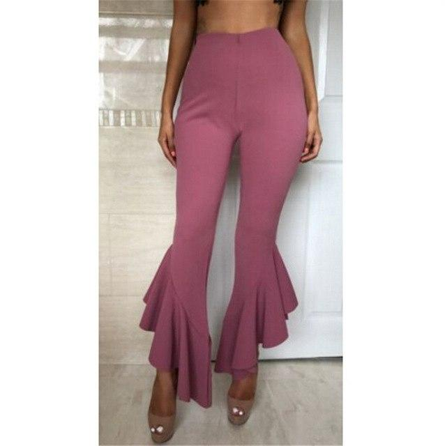 Women Sexy Summer Wide Leg Pants Casual Loose Stretch High Waist Widerricdress-rricdress