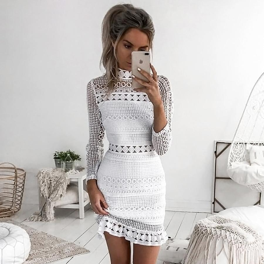 Sibybo Sexy Club Dress 2017 White Embroidery Floral Celebrity Zippers Dress Longrricdress-rricdress
