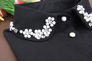 Korean fashion fake collar pearl half Fake Collar White Half Shirt Detachablerricdress-rricdress