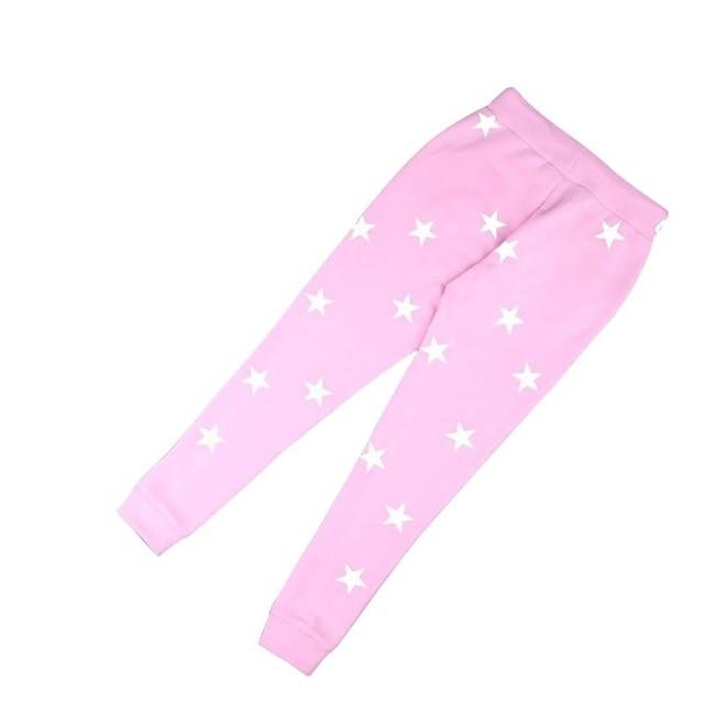 High Rating Feedback Pink/Gray Loose Pants Women Printed Star Casual Long Trousersrricdress-rricdress