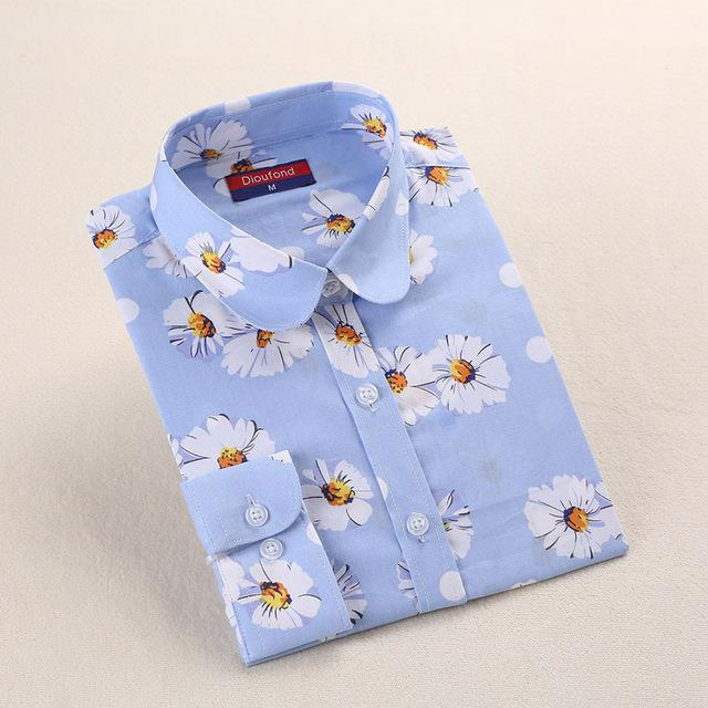 Women Flower Blouses Cotton Floral Ladies Tops Summer Flower Shirts Blusasrricdress-rricdress