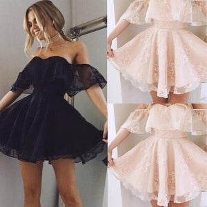 New Women Formal Lace Dress Summer Prom Off Shoulder Party Wedding Gownrricdress-rricdress