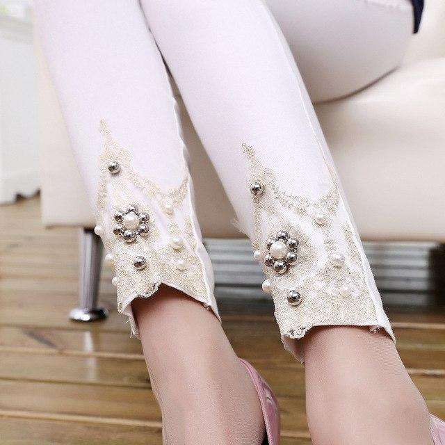 Girl jewelery Handtailor patchwork spliced pants Embroidery Rhinesto Cotton Blended panties casualrricdress-rricdress