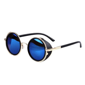 Durable Fashion lunette de soleil Unisex Men Women Round Cyber Steampunk Vintagerricdress-rricdress