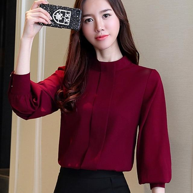 New Autumn Women Blouse Long Sleeve Chiffon Blouse Mujer Fashion Ladies Shirtsrricdress-rricdress