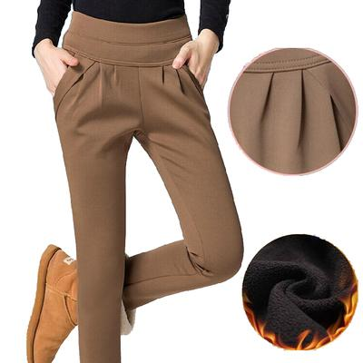 lady autumn winter harem pants high waist loose style thick fleece pantsrricdress-rricdress