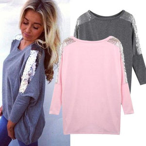 NEW Arrivals Women Hem Loose Long Sleeve Blouse Casual Solid Tunic Shirtsrricdress-rricdress