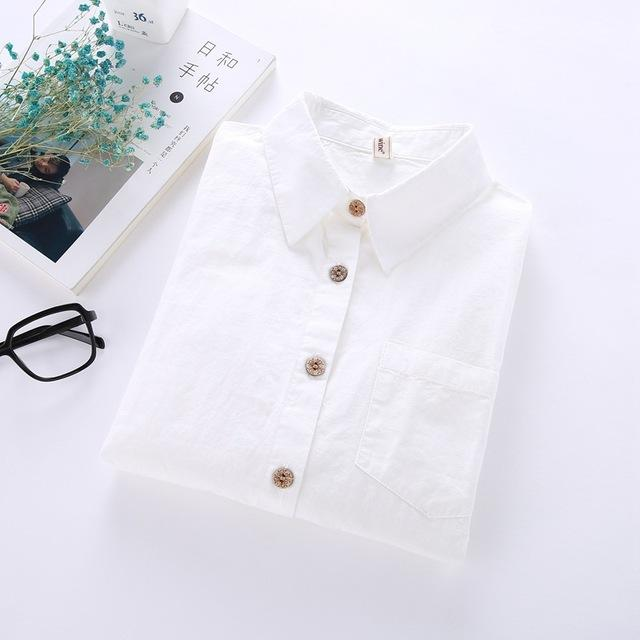 Women Shirts Blouses 2018 Autumn Spring Female Shirt Turn Down Collar Longrricdress-rricdress