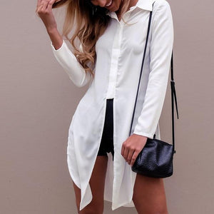CELMIA Fashion Sexy Women Chiffon Shirts 2018 New Style Long Sleeve Lapelrricdress-rricdress