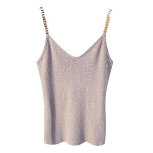 Summer Women Fashion Slim Sexy Knitting Tops Female Stretchy Sleeveless shirts Withrricdress-rricdress