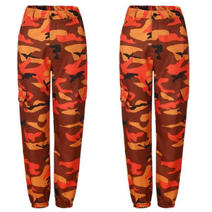 2018 Womens Colorful Camouflage Trousers Casual Pants Military Army Fashion Ladies Pantsrricdress-rricdress