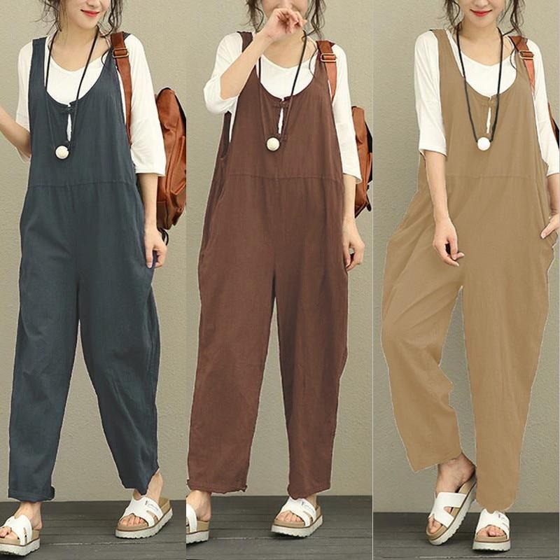 Women Casual Cotton Long Pants 2018 Autumn Spring Solid Oversize Trousersrricdress-rricdress