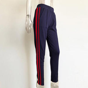 Trousers women 2018 sweatpants track pencil pants Casual Side stripe sweat pantsrricdress-rricdress