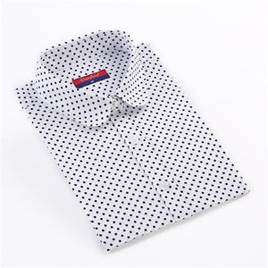 Cotton Women Shirt Long Sleeve Blouse Red Polka Dot Blusas Femininasrricdress-rricdress