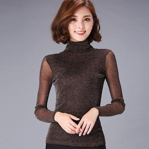 Women Blouses Long Sleeve Turtleneck Winter Elegant Women Blouse Fashion Women Topsrricdress-rricdress
