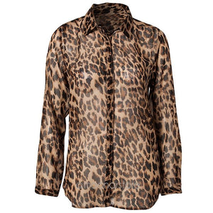 New Style Women Wild Leopard Print Blouse Lady Sexy Long Sleeve Topsrricdress-rricdress