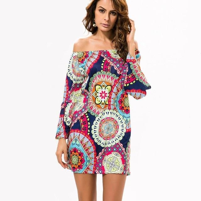 Fashion Bohemian Summer Dress Print Beach Vintage Sexy Female Vestidos Renda Casualrricdress-rricdress