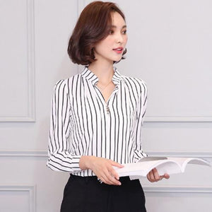 New Spring 2018 Women Tops Casual Long Sleeve Fashion Women Blouse Shirtrricdress-rricdress