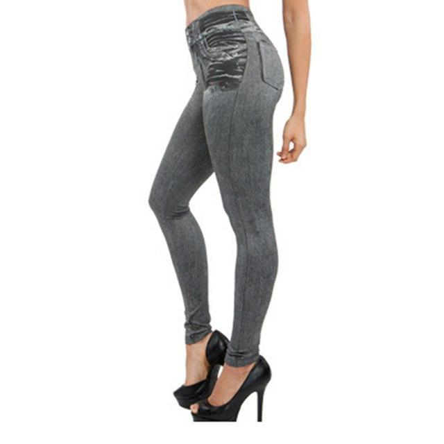 Women Spring Jeans With Pocket High Waist Slim Fitness Lady Pants Plusrricdress-rricdress