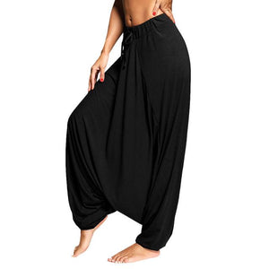 Gamiss Women Trouser Drop Bottom Harem Pants With Drawstring Casual Loose Plusrricdress-rricdress