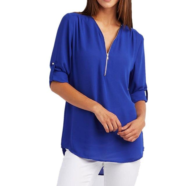 Women Plus Big Size 4XL 5XL Loose Casual Chiffon Blouse Female 2018rricdress-rricdress