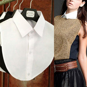 Lady Half Shirt Detachable Fake Collar Removable False Choker Toprricdress-rricdress