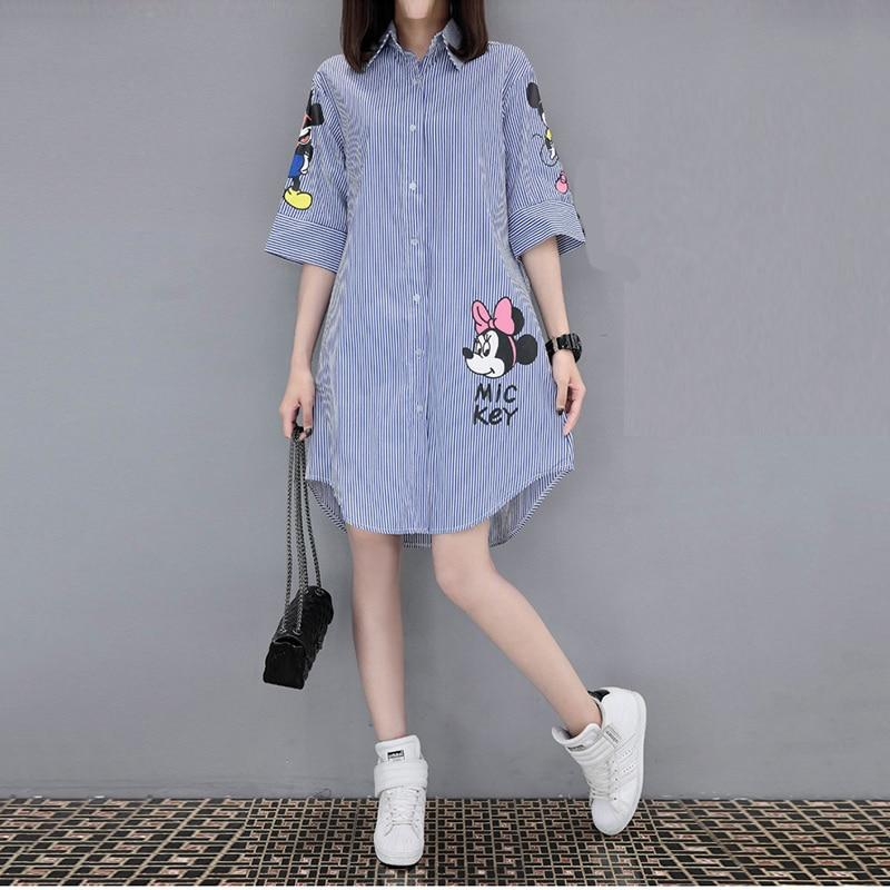 Women 2018 Summer Short-sleeved Loose Print Dress Femme Fashion Leisure Round Collarrricdress-rricdress