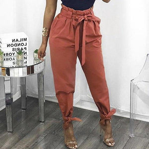 2018 Summer Harem Loose Pants Women Joggers Causal High Waist Solid Colorrricdress-rricdress