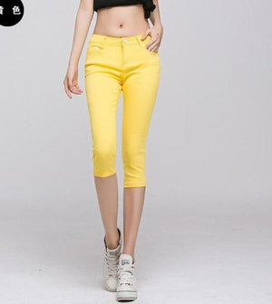 Female Summer Hot Sale Candy Colored Leggings Pencil Pants Casual Bodycon Slimrricdress-rricdress