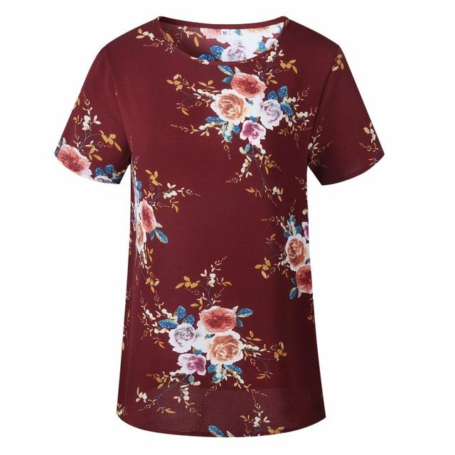 Femme Camisetas Mujer Verano Ladies Floral Print Plus Size Blouses Bohemian Stylerricdress-rricdress