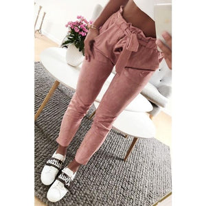 2018 New Fashion summer women suede pants style ladies Leather bottoms femalerricdress-rricdress
