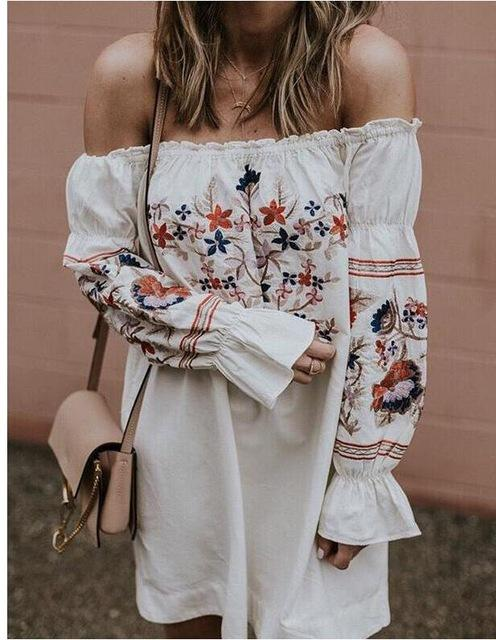 2018 Vintage embroidery floralrricdress-rricdress