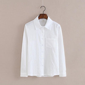 Foxmertor 100% Cotton Shirt White Blouse 2018 Spring Autumn Blouses Shirts Womenrricdress-rricdress