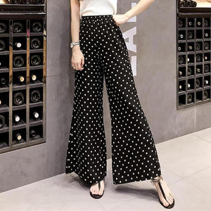 New Wide Leg Pants Women Polka Dot Printed Loose Trousers Women 2018rricdress-rricdress