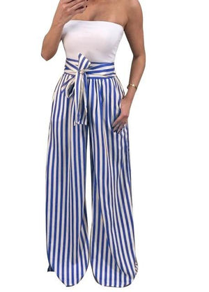 2018 Summer New Bow Tie Wide Leg Pants Women High Waistrricdress-rricdress