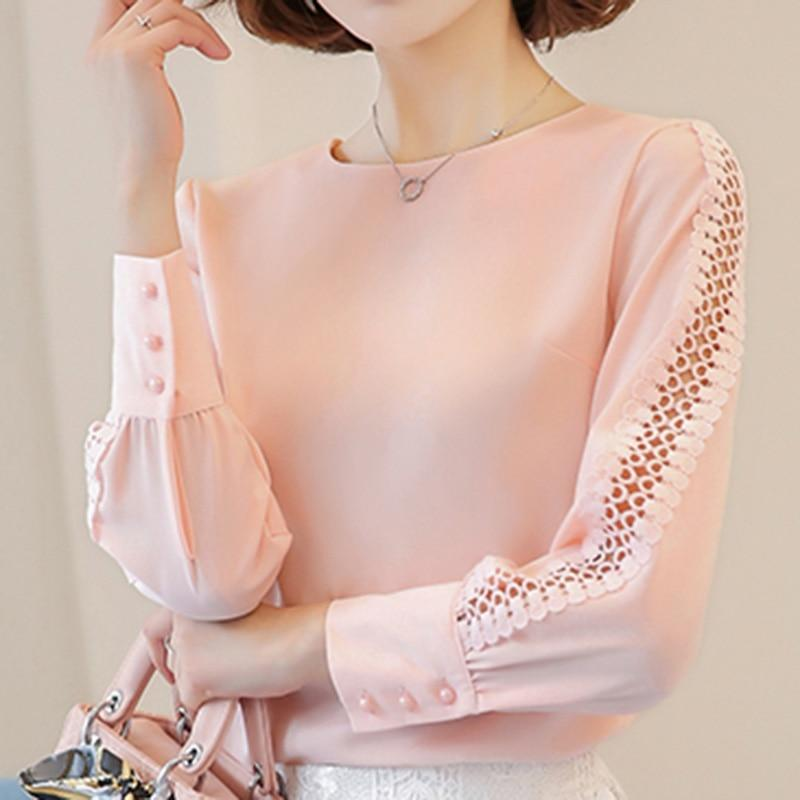VogorSean New Women Blouses Shirt Hollow Out Lace Blouse Tops For Shirtrricdress-rricdress