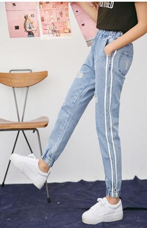 2018 Spring Summer Holes Fashion Women Jeans Trousers Ankle Length Pants Highrricdress-rricdress