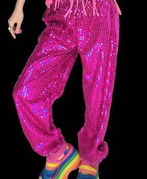 Women men club Sequin Jazz Stage Hip hop hiphop dance costume longrricdress-rricdress
