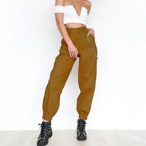 2018 Summer Female High Waist Harem Pants Women Fashion Slim Solid Colorrricdress-rricdress