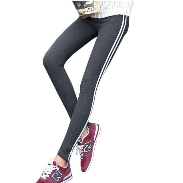New Fashion Side-stripe Slim Pants Female White Bar Harem Pants Leisure Sweatpantsrricdress-rricdress