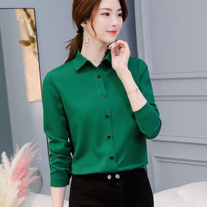 Office Blouse Women Summer Chiffon Blouses Shirts Ladies Girls Casual Formal Blouserricdress-rricdress