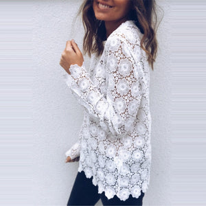Fashion Women Boho Beach Holiday Summer Loose Casual Chiffon Lace Floral Embroiderrricdress-rricdress