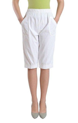Woman spring plus size high 100% cotton Calf-length Pants female summer thinrricdress-rricdress