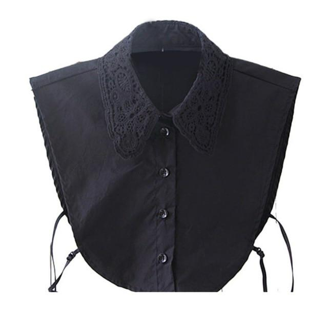 Fashion Unisex Women Men Detachable Lapel Shirt Fake False Collar Choker Black/Whiterricdress-rricdress