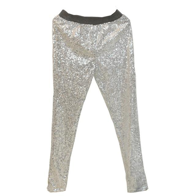 Fashion Trousers Women Pants Sexy High Waist Pants Stretch All Over Sequinsrricdress-rricdress
