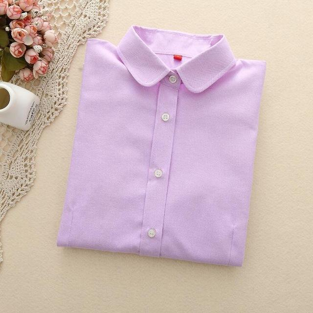 Women Blouses 2018 Long Sleeve Oxford Ladies Tops Office Long Sleeverricdress-rricdress