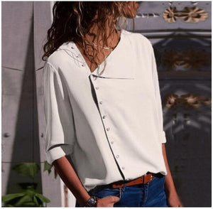 Women Blouse Shirt Long Sleeve Korean Fashion New Arrival 2018 Autumn Officerricdress-rricdress