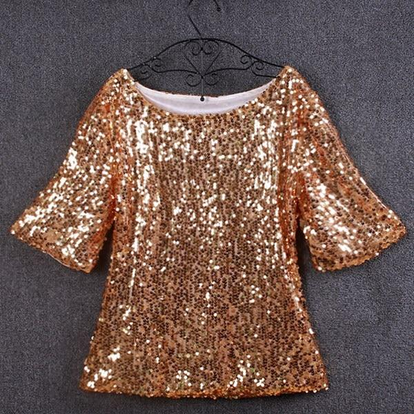 Hot In Europe And America New Women Tops And Blouses Sequin Embroideryrricdress-rricdress
