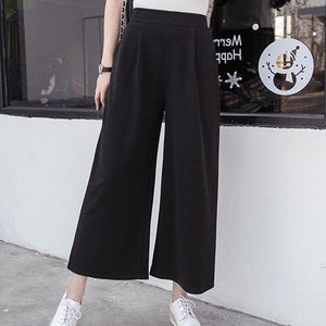 Women Pants Spring Casual Mid Waist Ankle Length Black Harem Pants Leisurerricdress-rricdress
