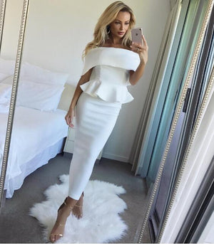Summer Dress Romantic Bodycon White Runway Dresses 2017 Women High Quality Off-Shoulderrricdress-rricdress